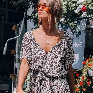 NWT! New Spell & The Gypsy Bodhi Leopard Dress